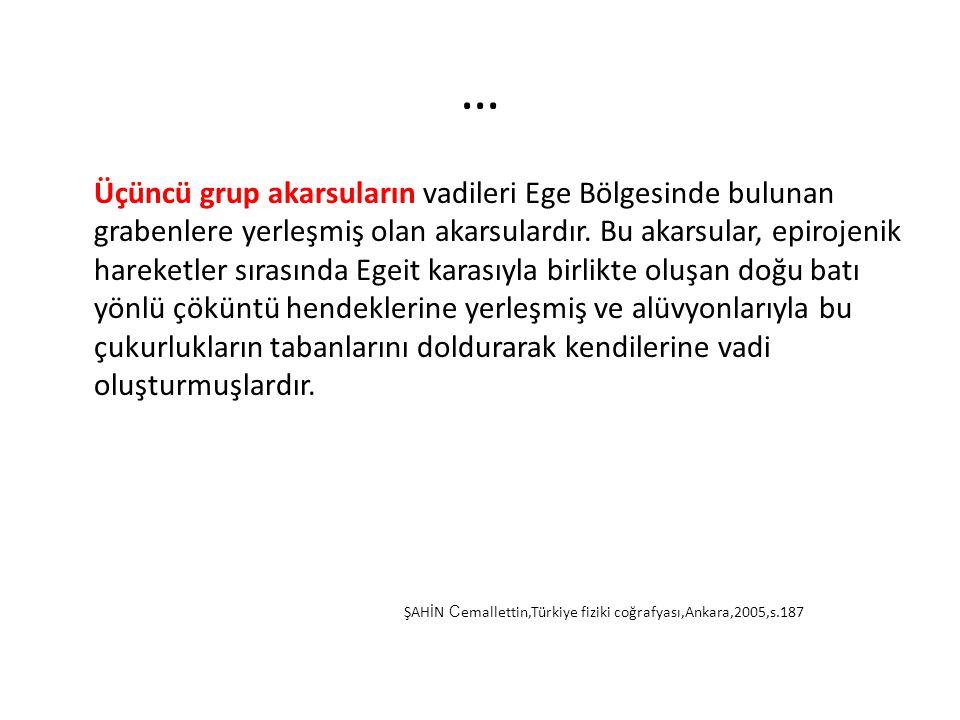 Türkiye deki Akarsu Ağının Genel Görünümü