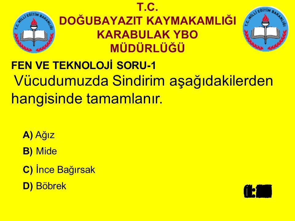T.C.DOĞUBAYAZIT KAYMAKAMLIĞI KARABULAK YBO MÜDÜRLÜĞÜ 5.