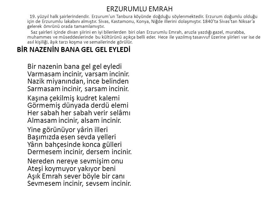 ERZURUMLU EMRAH 19. yüzyıl halk şairlerindendir.