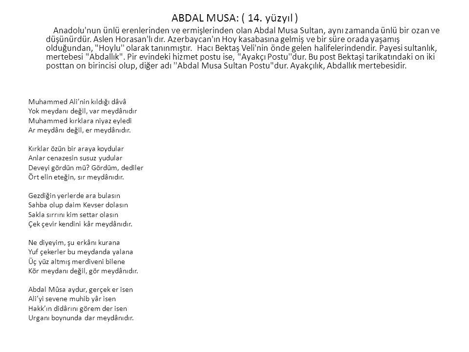ABDAL MUSA: ( 14.