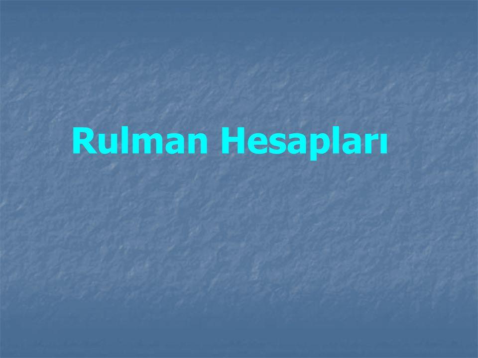 Rulman Hesapları