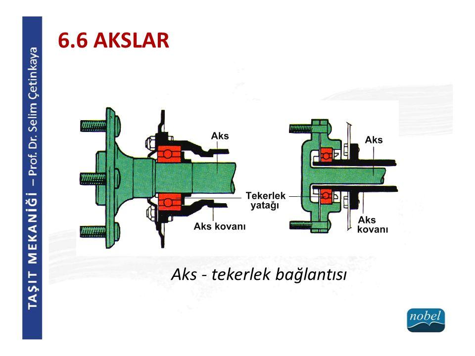 6.6 AKSLAR Aks - tekerlek bağlantısı