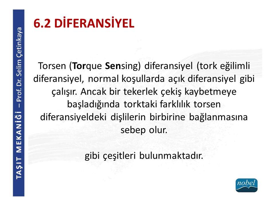 Torsen (Torque Sensing) diferansiyel (tork eğilimli diferansiyel, normal koşullarda açık diferansiyel gibi çalışır. Ancak bir tekerlek çekiş kaybetmey