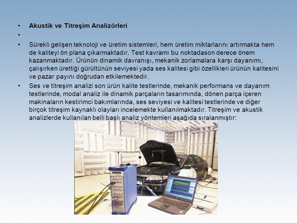 Akustik ve Titreşim Analizörleri Sürekli gelişen teknoloji ve üretim sistemleri, hem üretim miktarlarını artırmakta hem de kaliteyi ön plana çıkarmaktadır.