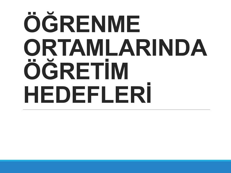 BİLİŞSEL ALANDA HEDEFLERİN YAZILMASI 2.