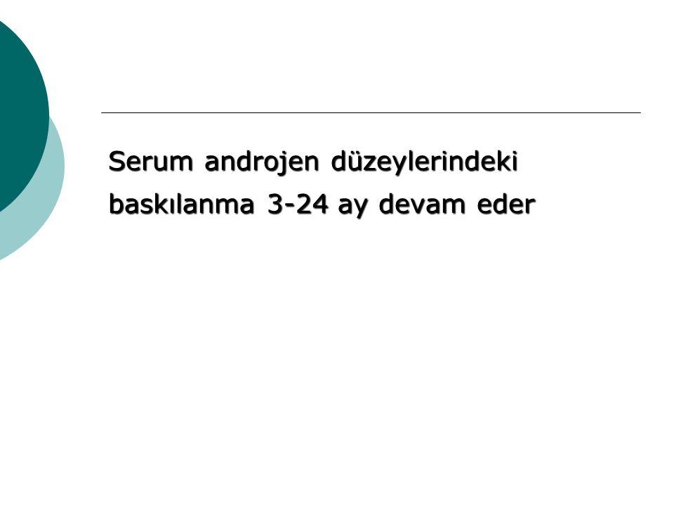 Serum androjen düzeylerindeki baskılanma 3-24 ay devam eder