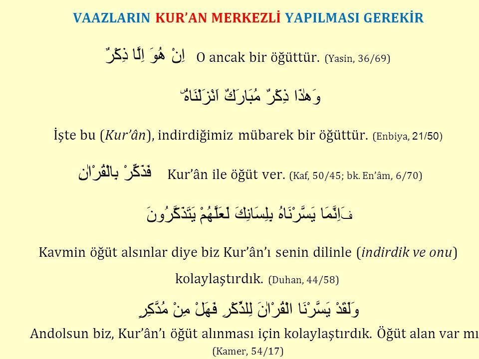 Ayet Merkezli Vaaz Ömer Nasuhi BİLMEN Hoca, Fatih, Beyazıt, Süleymaniye ve Ayasofya camilerinde vaazlarını ayet merkezli yapmıştır.