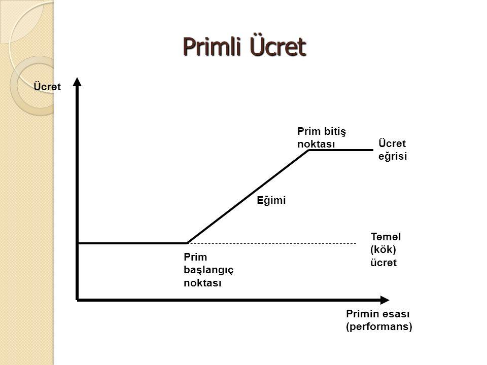 Ücret eğrisi Temel (kök) ücret Prim başlangıç noktası Prim bitiş noktası Ücret Primin esası (performans) Eğimi Primli Ücret