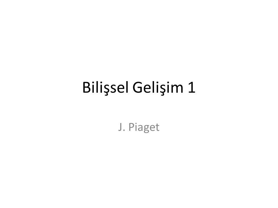 Bilişsel Gelişim 1 J. Piaget