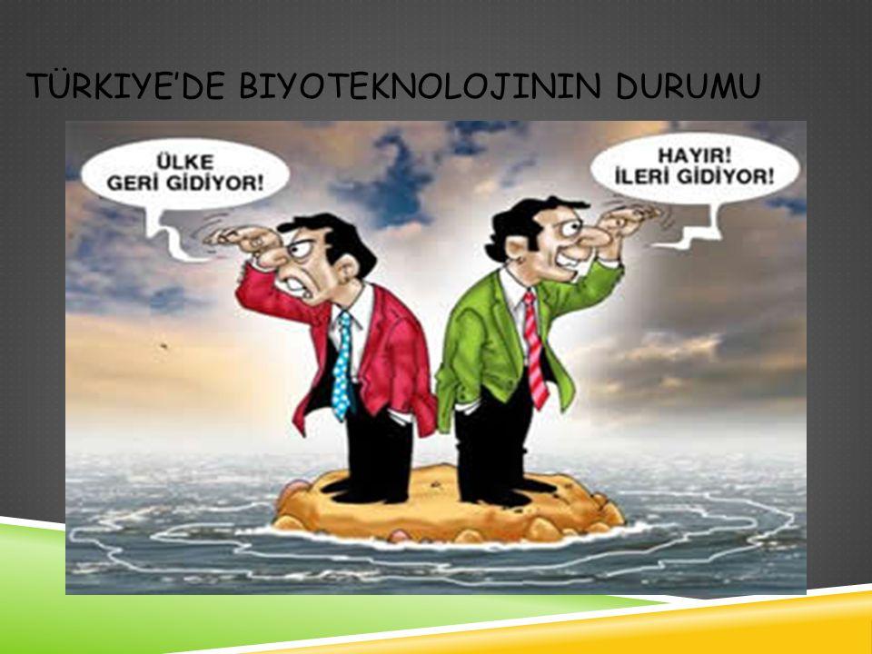 TÜRKIYE'DE BIYOTEKNOLOJININ DURUMU