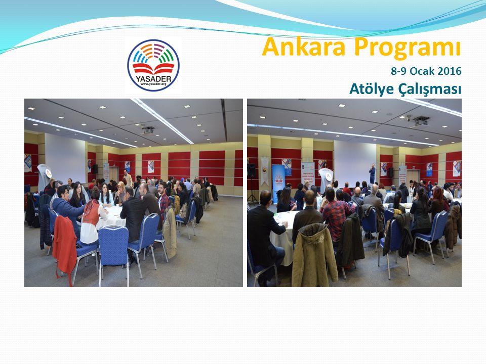 Ankara Programı 8-9 Ocak 2016 Sunumlar