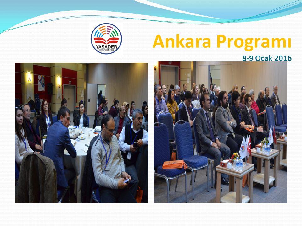 Ankara Programı 8-9 Ocak 2016 Atölye Çalışması