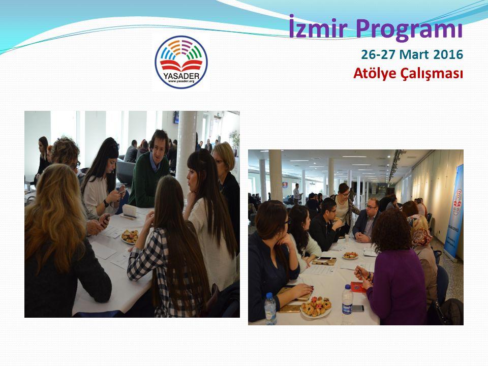 İzmir Programı 26-27 Mart 2016