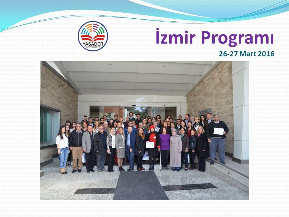 İzmir Programı 26-27 Mart 2016 Sertifika Töreni