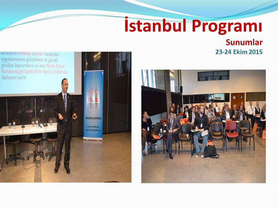 İstanbul Programı 23-24 Ekim 2015 Programımıza destek sağlayan İstanbul Bilgi Üniversitesine, İstanbul Bilgi Üniversitesi öğretim üyesi Prof.