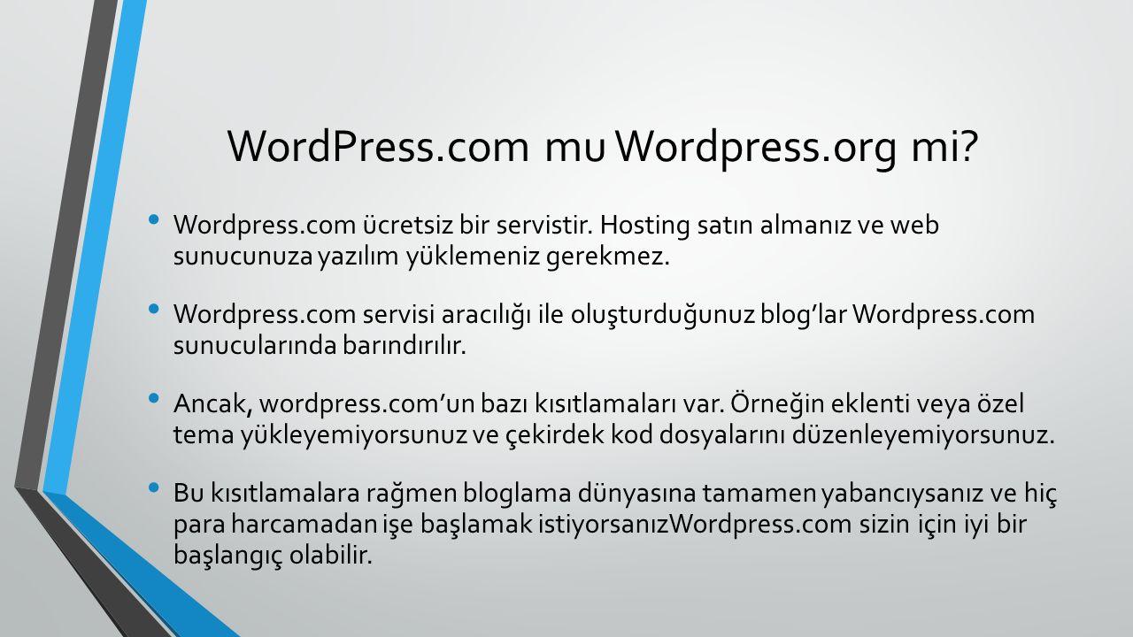 WordPress.com mu Wordpress.org mi.