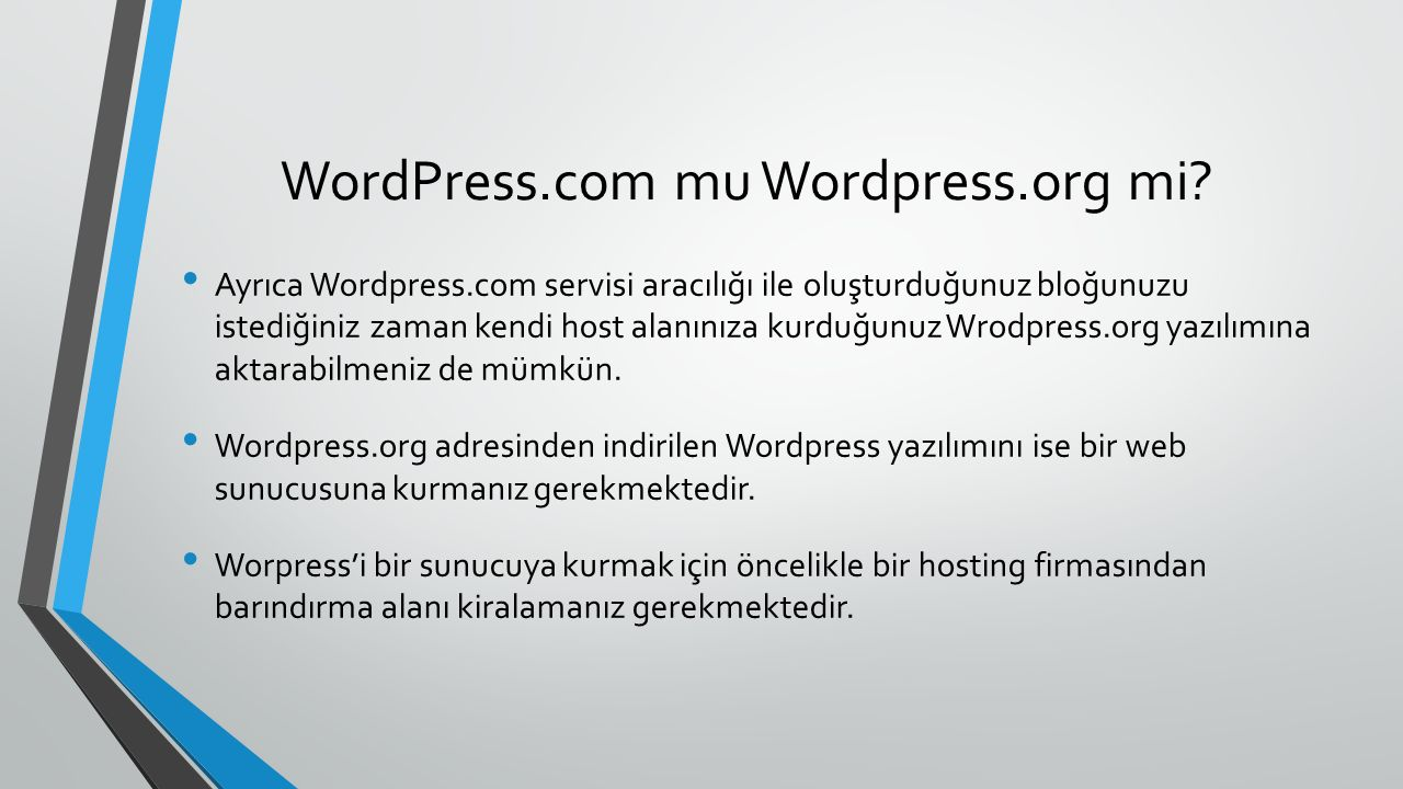 WordPress.com mu Wordpress.org mi.