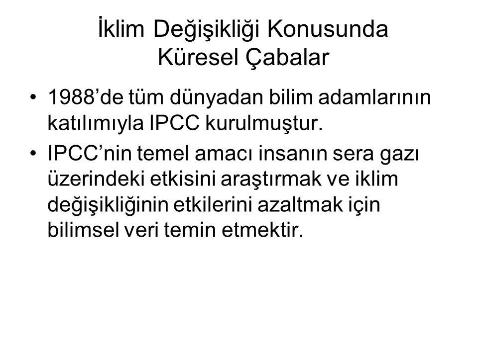 1988'de tüm dünyadan bilim adamlarının katılımıyla IPCC kurulmuştur.