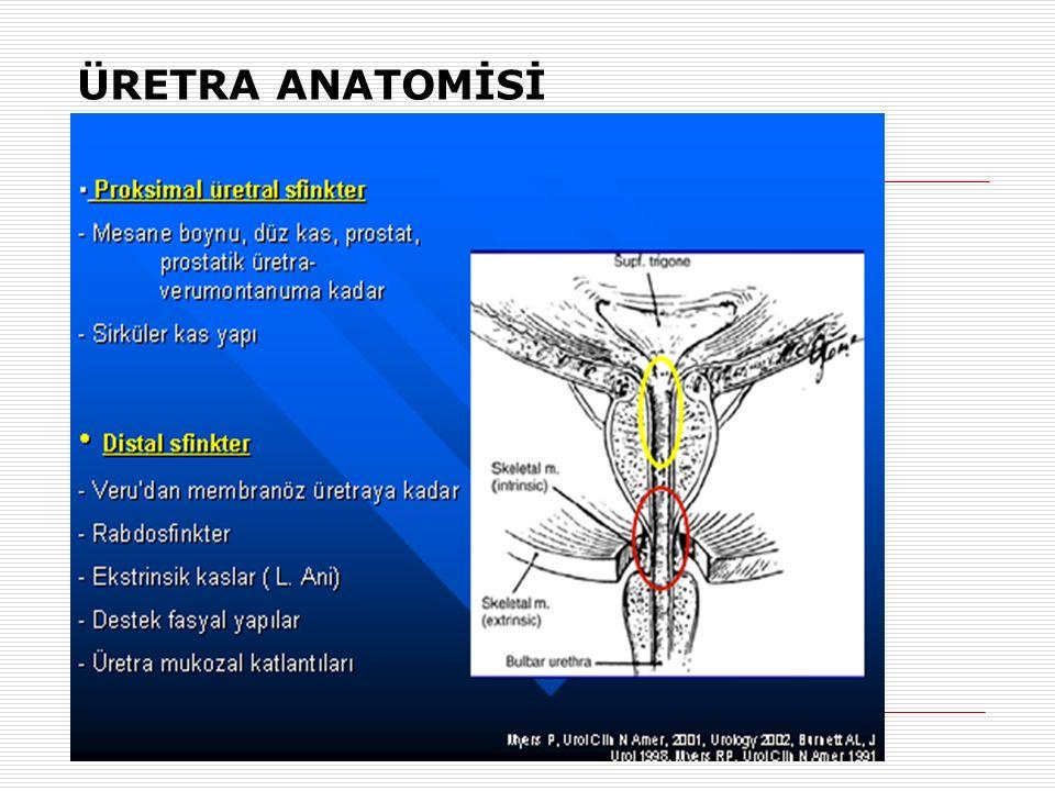 TAŞMA(OVERFLOW) İNKONTİNANS ETYOLOJİ VE TEDAVİ  Az Aktif Detrusor(Hipotonik Mesane)  Temiz aralıklı kateterizasyon (TAK)  Mesane Çıkım Obstruksiyonu (Prolapsus veya BPH)  Anatomik çıkım obstrusiyonu düzeltme
