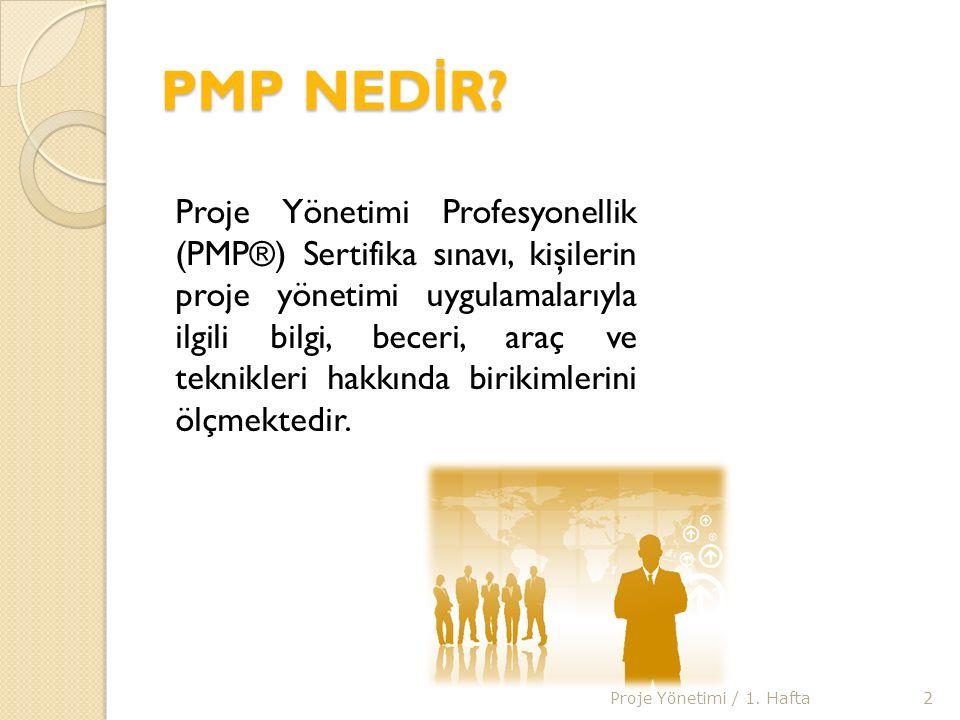 PMP (Project Management Professional) Sınavı Hazırlık E ğ itim Programları E ğ itim süreleri 20-36 saat arasında de ğ işir.(3-4 gün) E ğ itim programlarının saatlik ücreti 20 EUR civarındadır.
