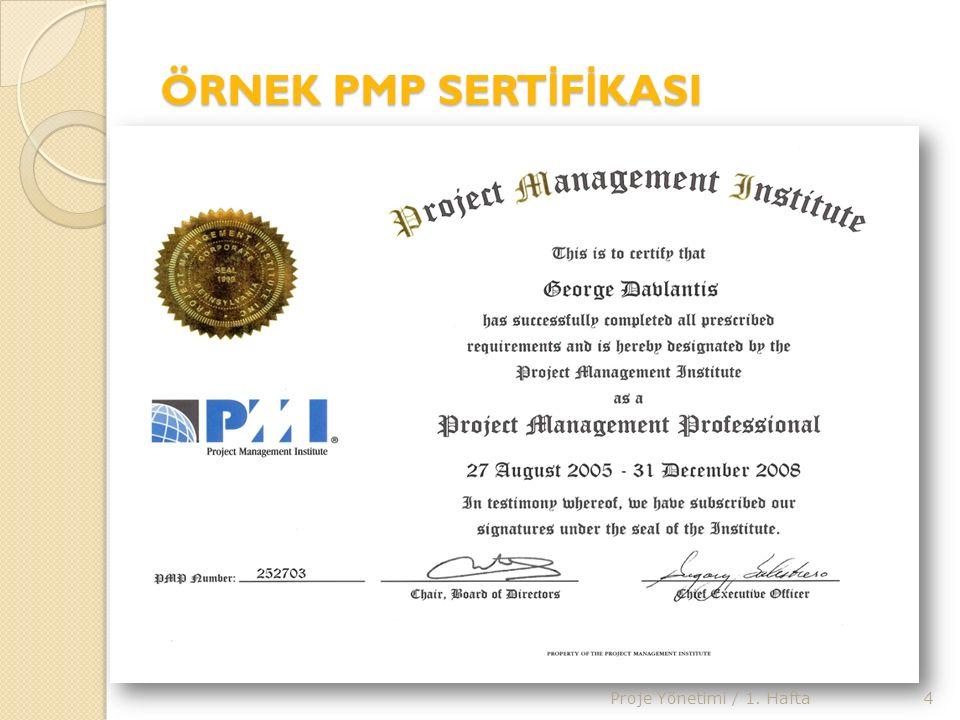 PMP BAŞVURU SÜREC İ PMP® Sertifikasyon sınavına giriş için başvuru işlemleri do ğ rudan PMI® ya yapılmakta ve yaklaşık iki-üç haftada tamamlanmaktadır.