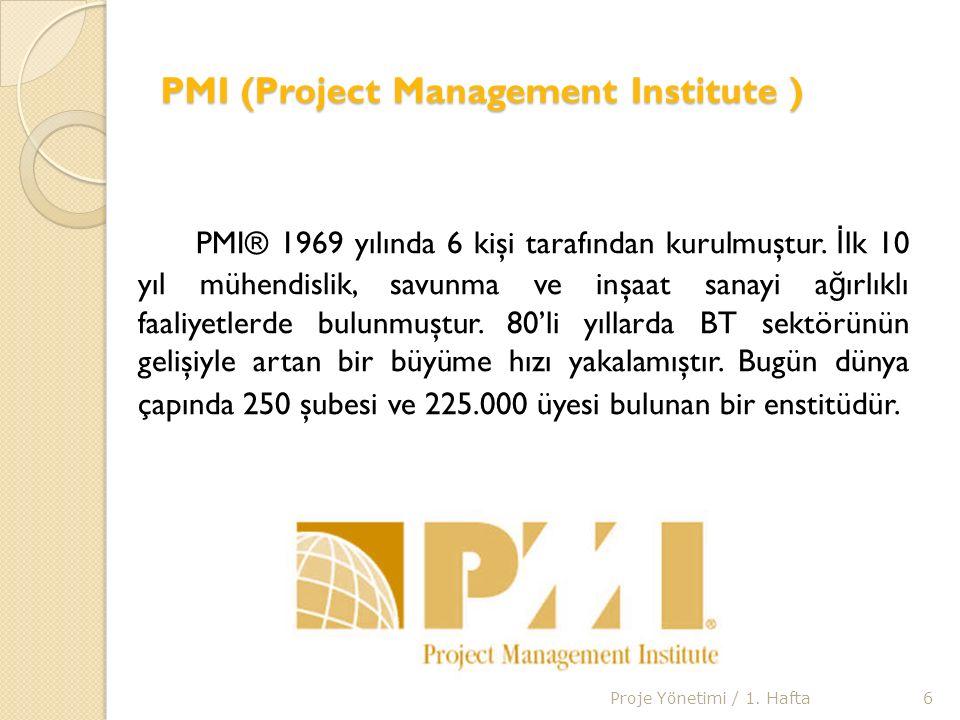 PMP Sınavına Giriş Adımları 1- http://www.pmi.org/GetInvolved/Pages/The-Benefits-and-Types- of-Membership.aspx sayfasına girilir.http://www.pmi.org/GetInvolved/Pages/The-Benefits-and-Types- of-Membership.aspx 2- Aşa ğ ıdaki seçeneklerden sizin için uygun olanı seçiniz ve sonunda aidatı ödeyerek, PMI'a üye olunur.