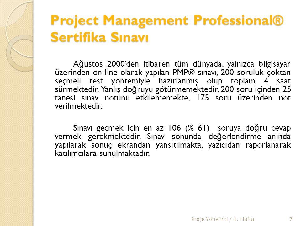 PMP Sertifasına Sahip Olma Sertifika almaya hak kazanan kişiler proje yönetimi konusunda profesyonel düzeyde uzman olduklarını kanıtlamaktadır, bununla birlikte kariyer gelişiminde de büyük bir başarıya imza atmış olurlar.