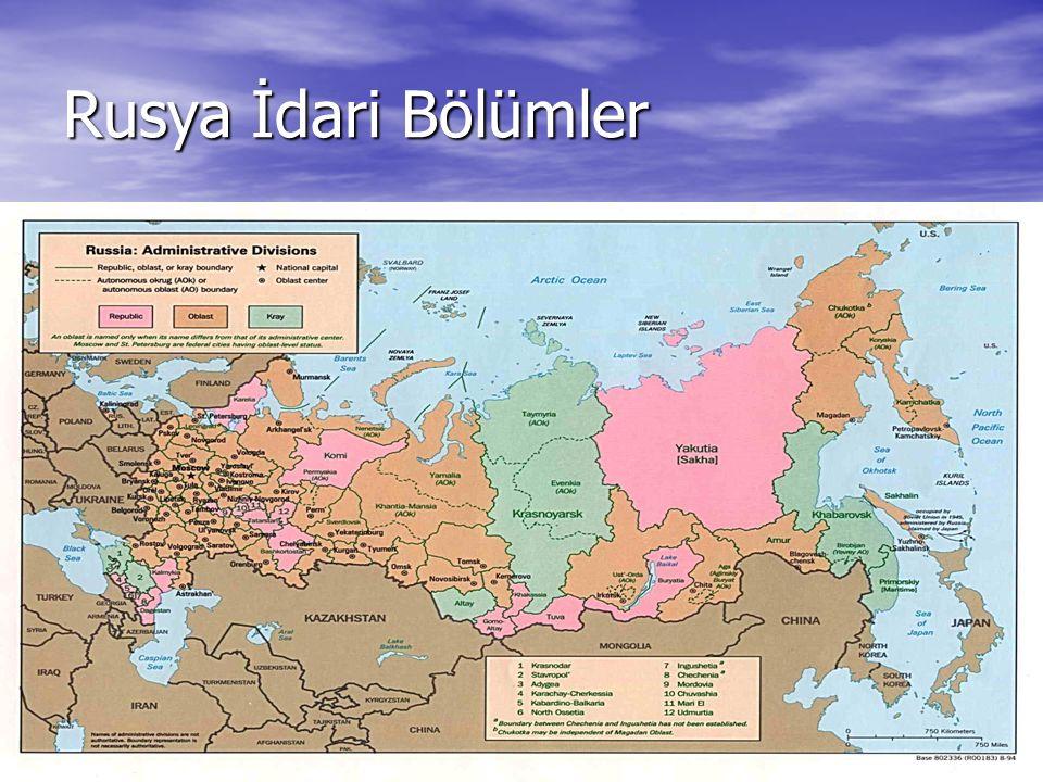 7 Rusya İdari Bölümler