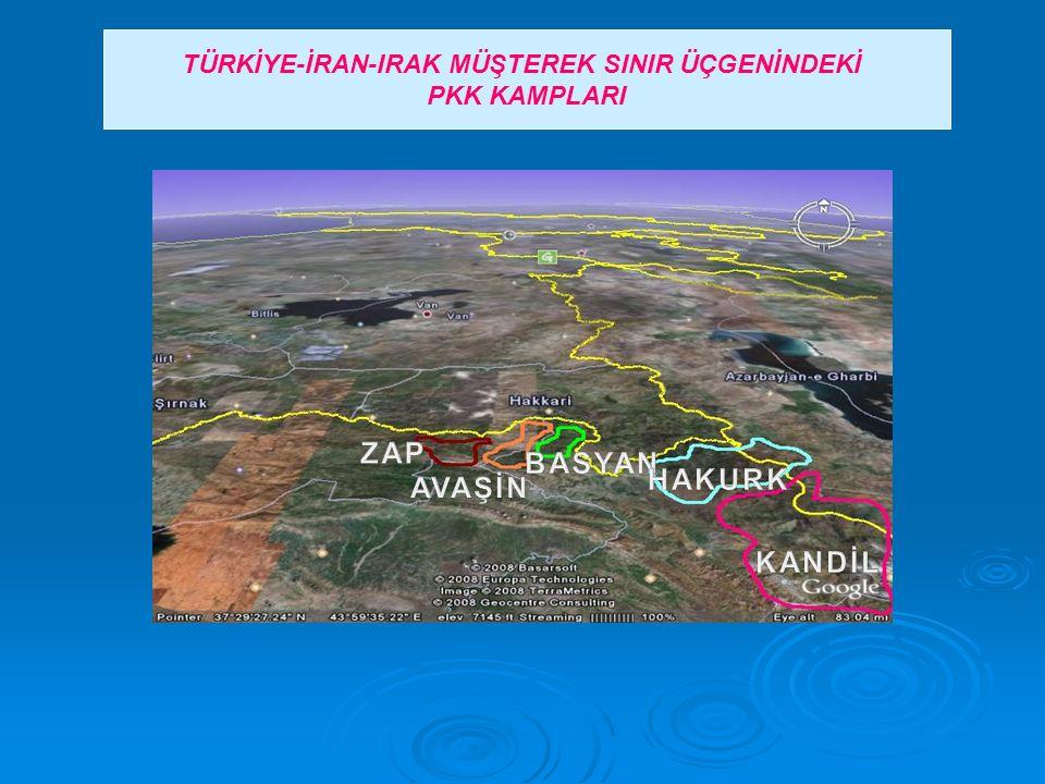 TÜRKİYE-İRAN-IRAK MÜŞTEREK SINIR ÜÇGENİNDEKİ PKK KAMPLARI