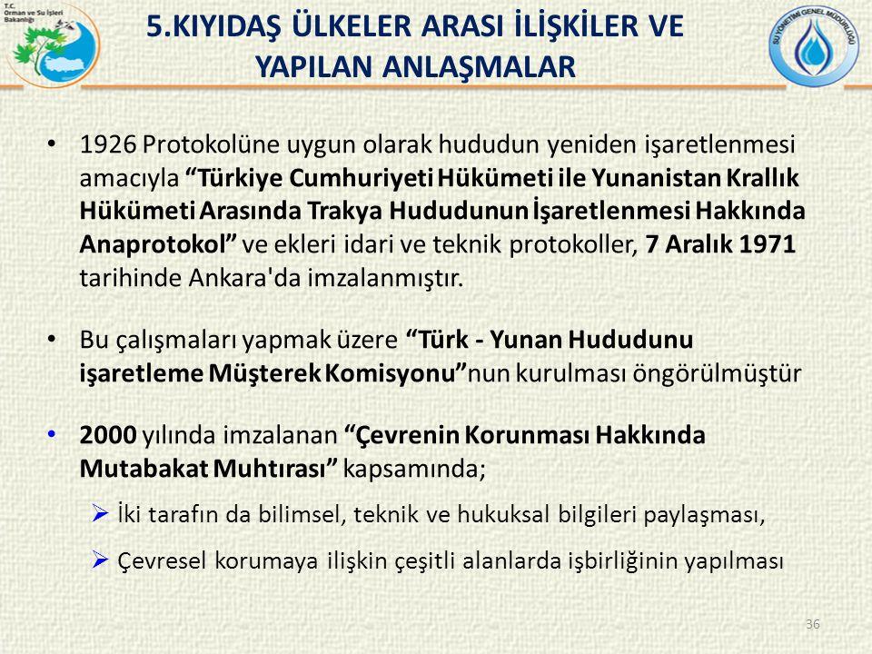 1926 Protokolüne uygun olarak hududun yeniden işaretlenmesi amacıyla Türkiye Cumhuriyeti Hükümeti ile Yunanistan Krallık Hükümeti Arasında Trakya Hududunun İşaretlenmesi Hakkında Anaprotokol ve ekleri idari ve teknik protokoller, 7 Aralık 1971 tarihinde Ankara da imzalanmıştır.