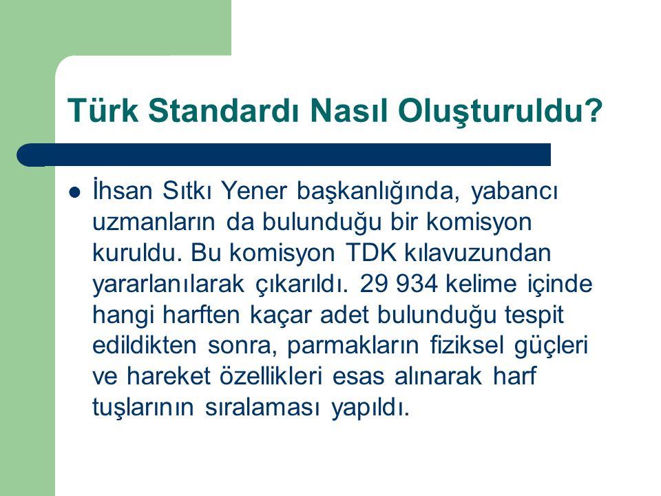 Türk Standardı Nasıl Oluşturuldu.