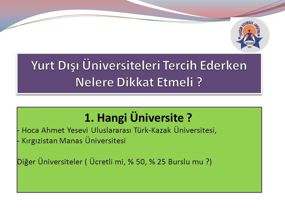 1. Hangi Üniversite .