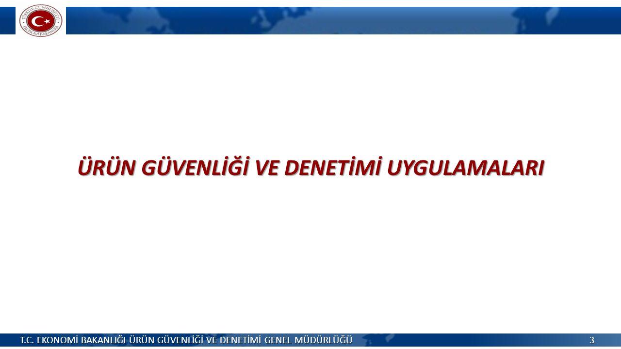 ÜRÜN GÜVENLİĞİ VE DENETİMİ UYGULAMALARI T.C.
