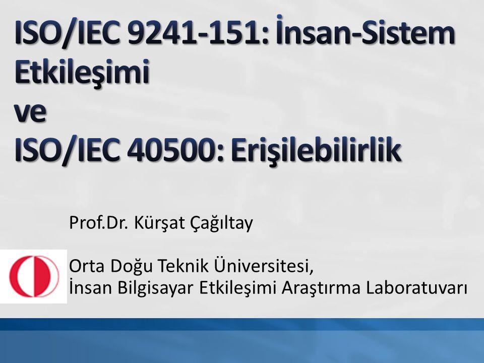 Prof.Dr. Kürşat Çağıltay Orta Doğu Teknik Üniversitesi, İnsan Bilgisayar Etkileşimi Araştırma Laboratuvarı