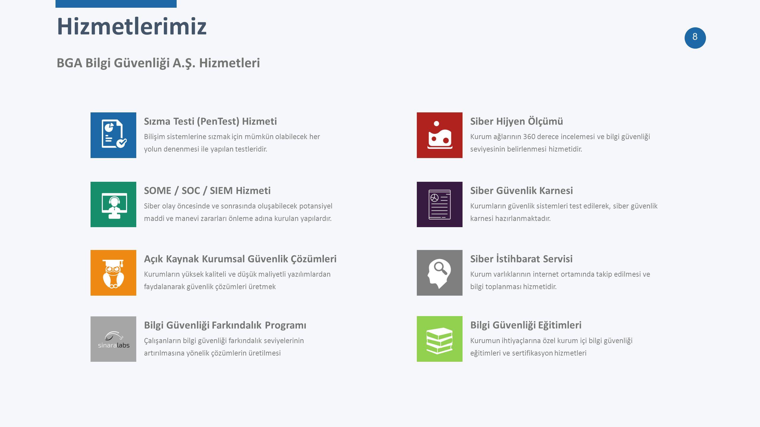19 BGA Security — Teşekkürler bilgi@bga.com.tr +90 (216) 474 0038 www.bga.com.tr İSTANBUL – ANKARA – AZERBAYCAN – USA