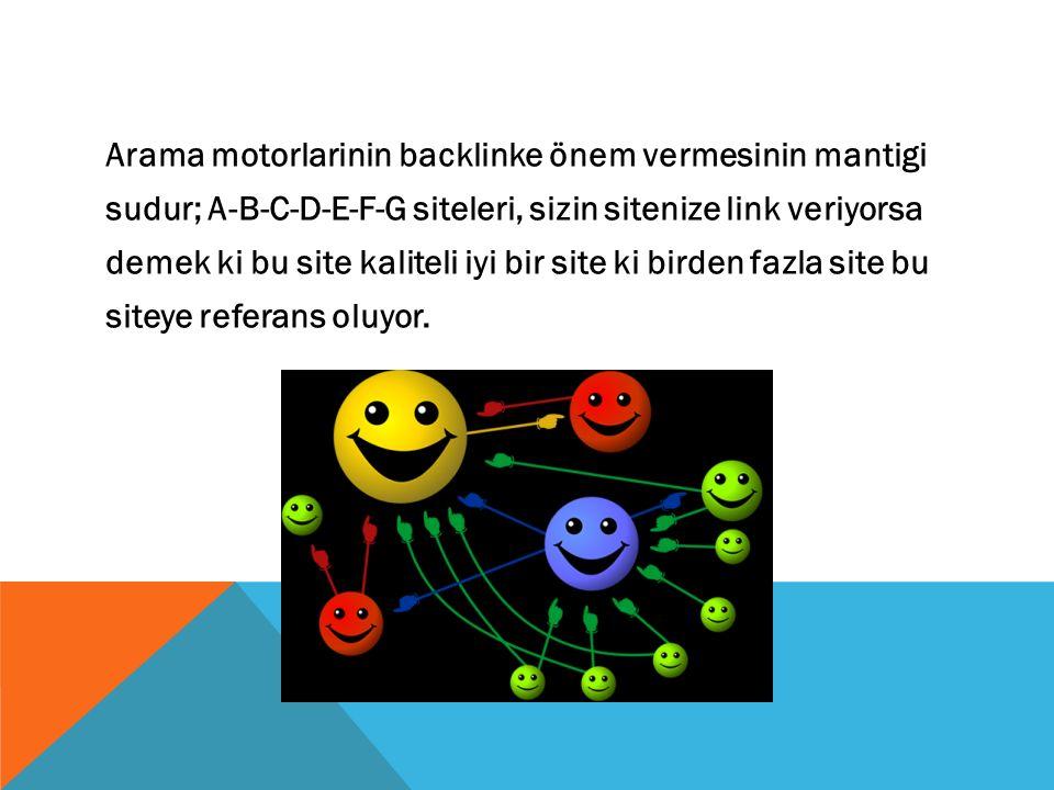Pagerank inin yükselmesinde en etkili araç kaliteli backlink çalismasidir.