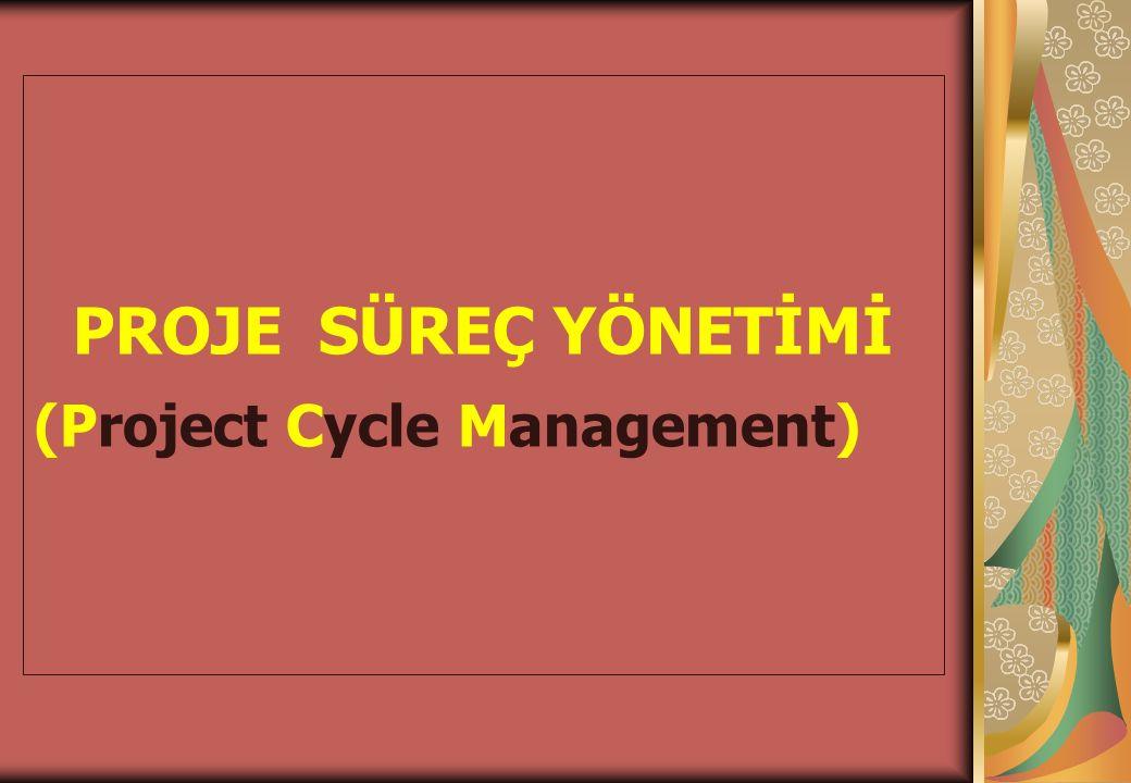 PROJE SÜREÇ YÖNETİMİ (Project Cycle Management)