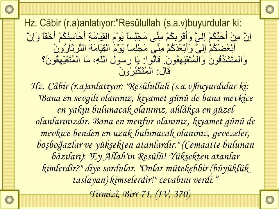Hz. Câbir (r.a)anlatıyor: