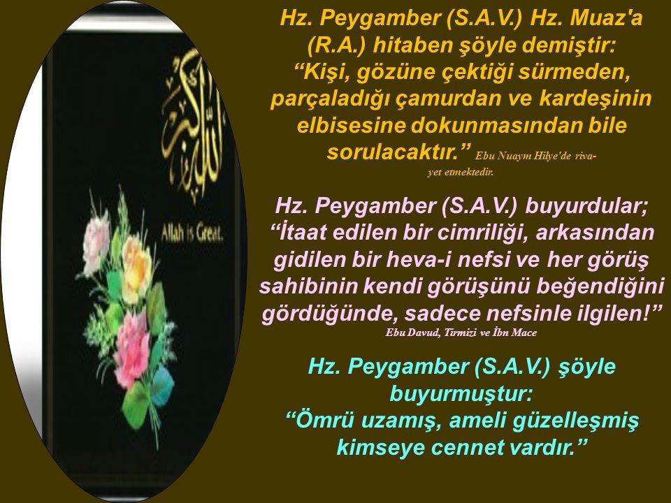 Hz.Peygamber (S.A.V.) Hz.