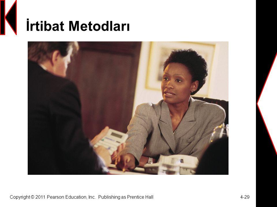 İrtibat Metodları Copyright © 2011 Pearson Education, Inc. Publishing as Prentice Hall 4-29