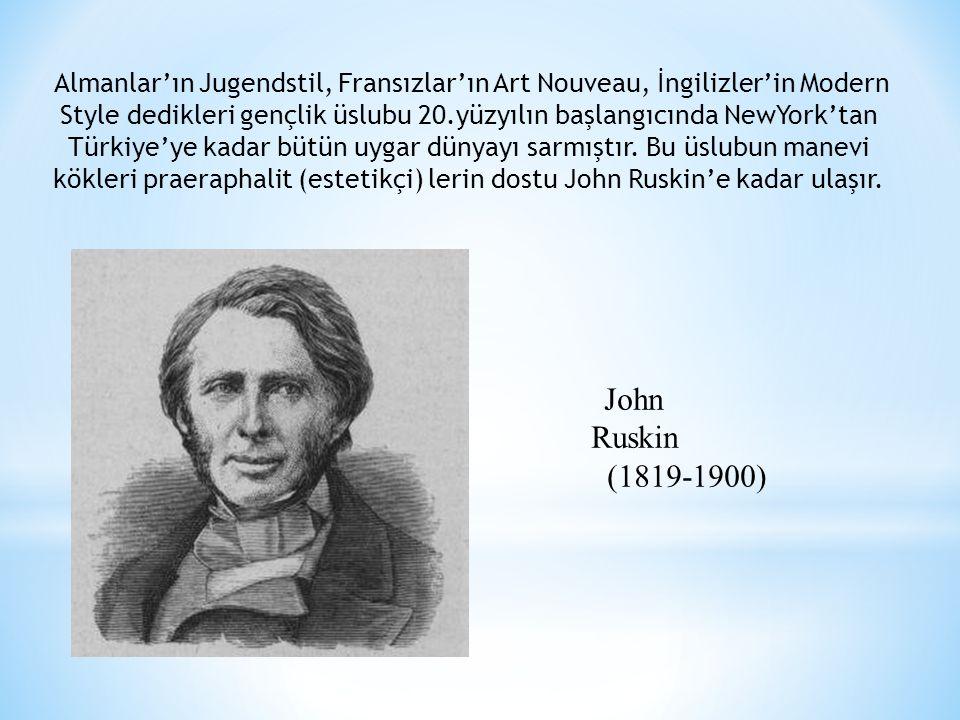 Almanlar'ın Jugendstil, Fransızlar'ın Art Nouveau, İngilizler'in Modern Style dedikleri gençlik üslubu 20.yüzyılın başlangıcında NewYork'tan Türkiye'y
