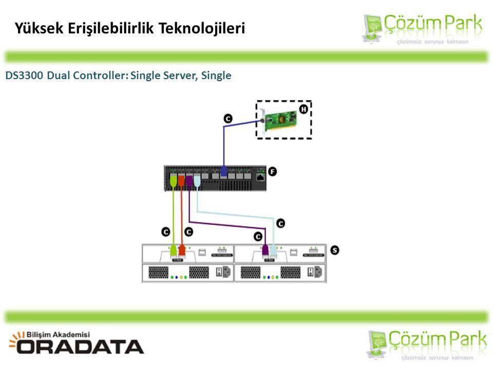 Yüksek Erişilebilirlik Teknolojileri DS3300 Dual Controller: Single Server, Single