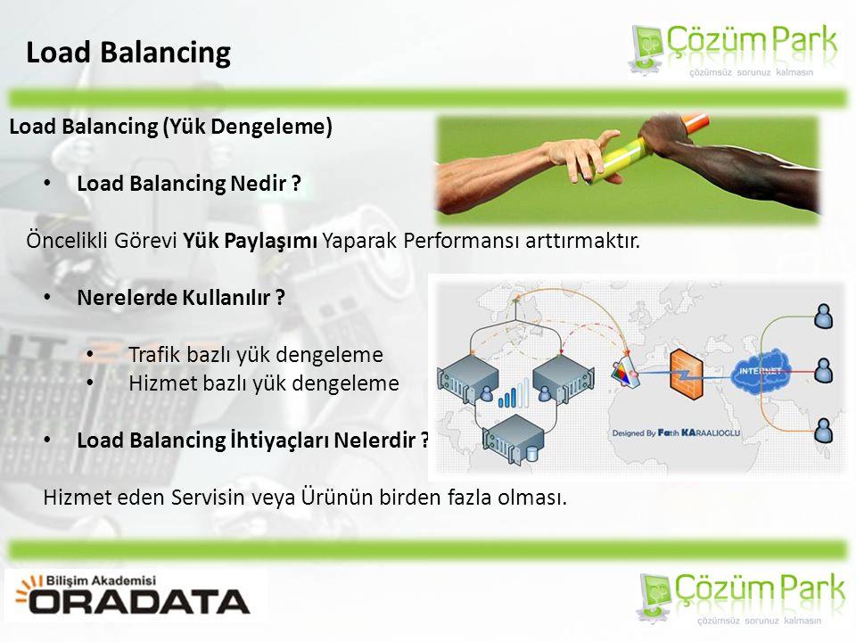 Load Balancing Load Balancing (Yük Dengeleme) INTERNET WachGuardFirebox Servers for the same service