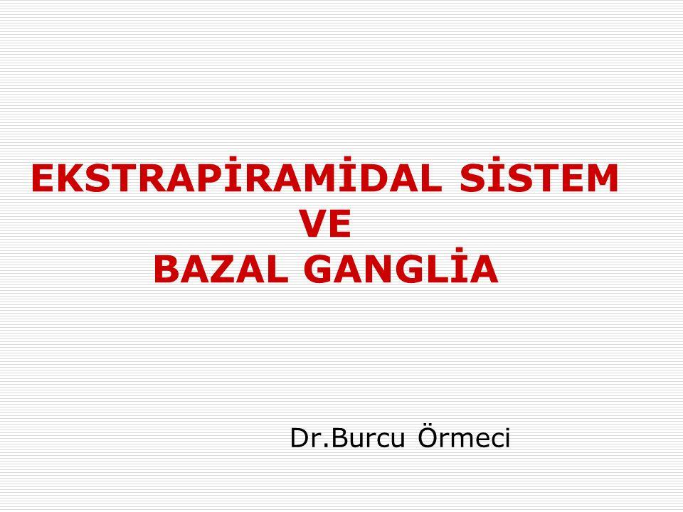 EKSTRAPİRAMİDAL SİSTEM VE BAZAL GANGLİA Dr.Burcu Örmeci