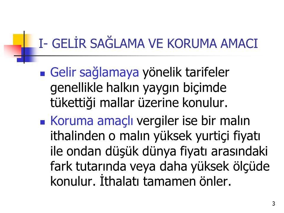 24 VIII. TÜRKİYE'DE GÜMRÜK VERGİLERİ 1. Türk ekonomisinin dışa açılması 2. Gümrük birliği dönemi