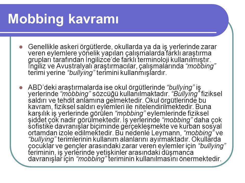 Mobbinge karşı önlemler öneriler İşveren açsından: Mobbing konusunda tüm boyutlarıyla bilgi sahibi olmalıdır.