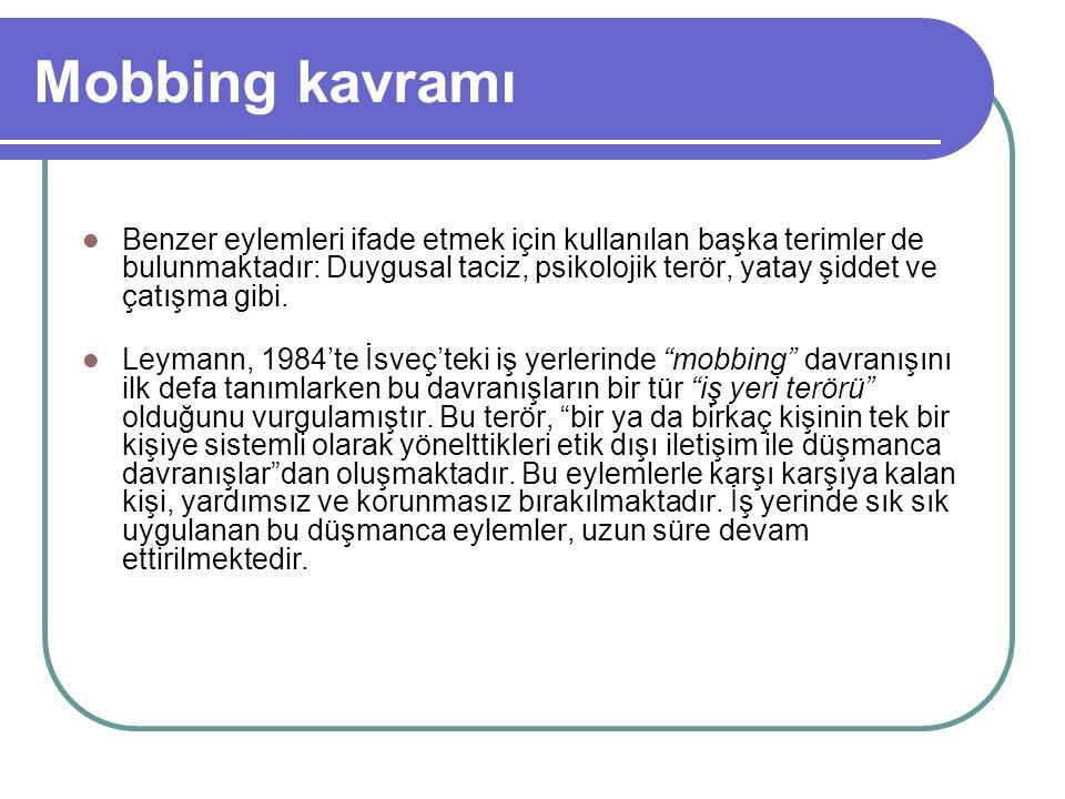 Türk hukukunda mobbing 6098 sayılı yeni Borçlar Kanunu Haksız Fiillerden Doğan Borç İlişkileri A.
