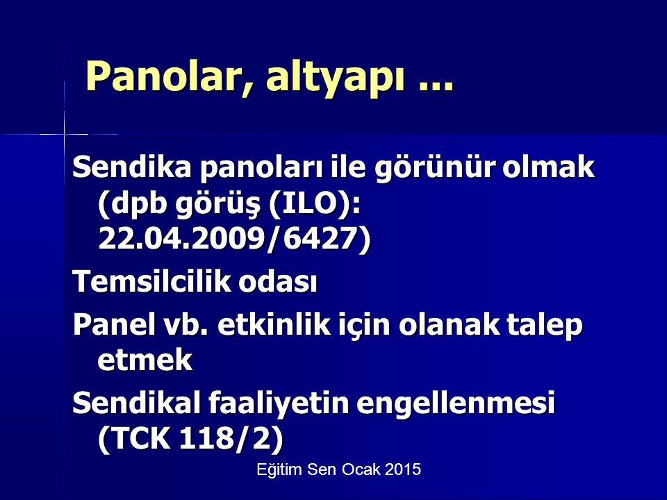 Eğitim Sen Ocak 2015 Panolar, altyapı...