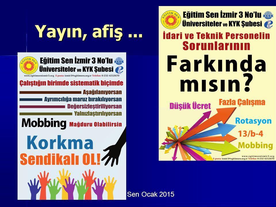 Eğitim Sen Ocak 2015 Yayın, afiş...