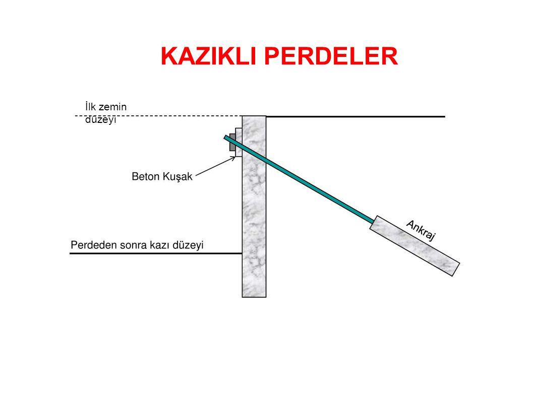 İlk zemin düzeyi KAZIKLI PERDELER